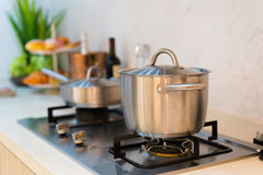 The cooker. In a kitchen royalty free stock image