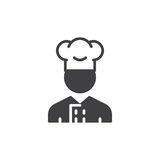 Cooker man icon vector, filled flat sign Royalty Free Stock Image