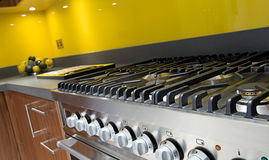 Cooker in Modern Colourful Kitchen Royalty Free Stock Photo