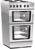Cooker oven and hob Stock Photo