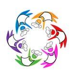 Cookers teamwork icon logo Stock Image