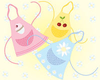 Cookery aprons Stock Photography