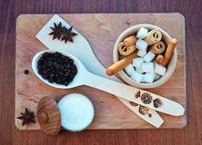 Cookery background. Here is your favorite food Stock Image