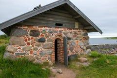 Cookery on the Big Zayatsky Island. Solovetsky archipelago, White Sea, Russia stock images
