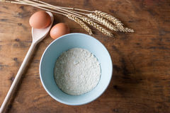 Cookery - Eggs, Flour and Wheat Stock Photo