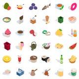 Cookery icons set, isometric style Royalty Free Stock Image