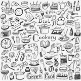 Cookery, natural food - doodles set Royalty Free Stock Photography