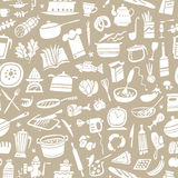 Cookery seamless background Royalty Free Stock Image