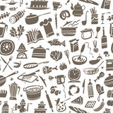 Cookery seamless background Stock Photo