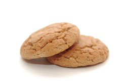 The Cookie. Dry and salty cookie, on white background royalty free stock images