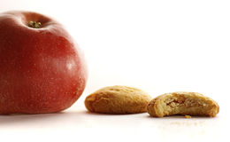 Cookie. Still life apple and cookie Stock Photography