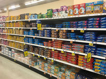 Cookie Aisle at Grocery Store Stock Photography