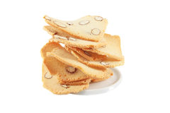 Cookie with almond Royalty Free Stock Photos