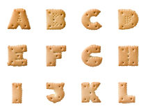 Cookie alphabet Stock Image