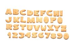 Cookie alphabet Stock Photography