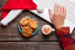Cookie And Women Hand Stock Images