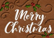 Cookie Art Merry Christmas Graphic stock image