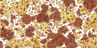 Cookie background (on white) Stock Images