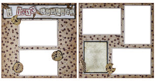 Cookie Baking Scrapbook Frame Template Royalty Free Stock Images