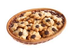 Cookie basket Royalty Free Stock Image