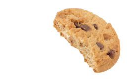 Cookie Biscuit with Bite Out royalty free stock photos