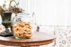 Cookie biscuit in jar. Cookie biscuit in a jar Royalty Free Stock Photography