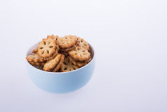 cookie biscuits with filling on background Royalty Free Stock Photography