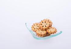 cookie biscuits with filling on background Stock Photography