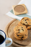 Cookie and black coffee Royalty Free Stock Photography