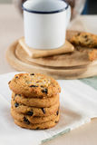 Cookie and black coffee Royalty Free Stock Image