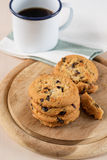 Cookie and black coffee Stock Image