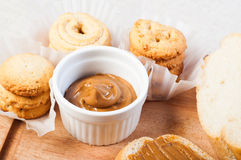 Cookie butter spread Stock Images