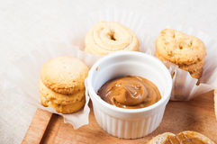 Cookie butter spread royalty free stock images