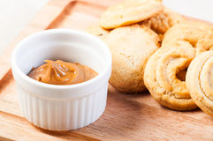 Cookie butter spread Royalty Free Stock Image