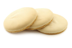 Cookie called Friese theekoek on a white background Royalty Free Stock Photo
