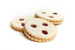 Cookie called Linzer Auge Stock Photos