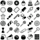 Cookie and candy icon. Collection - illustration stock illustration