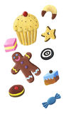 Cookie, candy and muffin Royalty Free Stock Photography