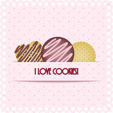 Cookie card Stock Photo
