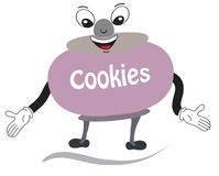 Cookie character Royalty Free Stock Images