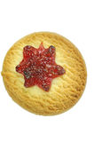 Cookie with cherry jam Royalty Free Stock Image