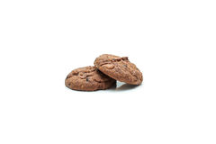 Cookie chip and Sugar cookie. On white background Stock Images