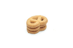 Cookie chip and Sugar cookie. On white background Royalty Free Stock Photography