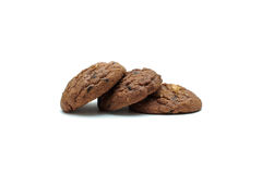 Cookie chip and Sugar cookie. On white background Stock Photography