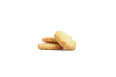 Cookie chip and Sugar cookie. On white background Royalty Free Stock Photo