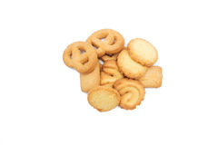 Cookie chip and Sugar cookie. On white background Royalty Free Stock Image