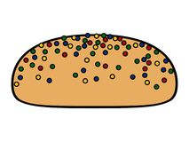 Cookie with chips. Icon. Vector illustration design royalty free illustration