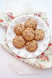 Cookie with chocolate Royalty Free Stock Images