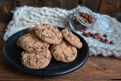 My Freshly baked chocolate chip cookies royalty free stock images
