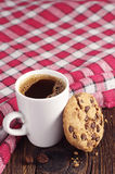 Cookie with chocolate and coffee Royalty Free Stock Photo